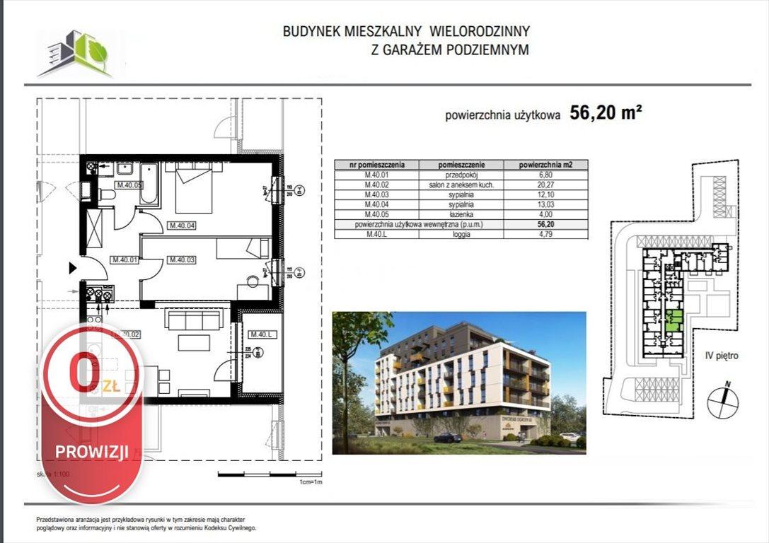 Mieszkanie trzypokojowe na sprzedaż Rzeszów, Krakowska  56m2 Foto 6