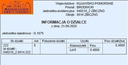 Działka leśna na sprzedaż polska, Zbiczno  4800m2 Foto 3