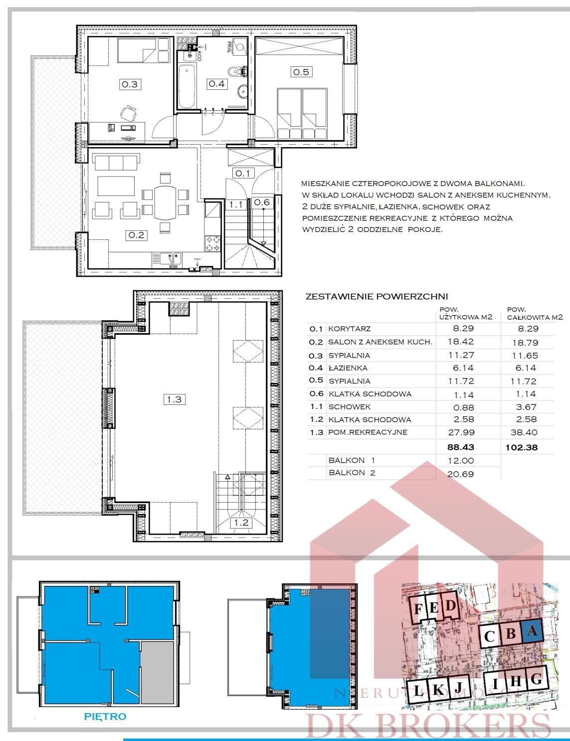 Mieszkanie czteropokojowe  na sprzedaż Rzeszów, Staroniwa, Staroniwska  88m2 Foto 4
