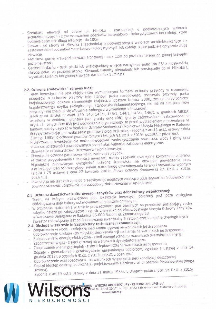 Działka inwestycyjna na sprzedaż Radom, Mieszka I  9226m2 Foto 3