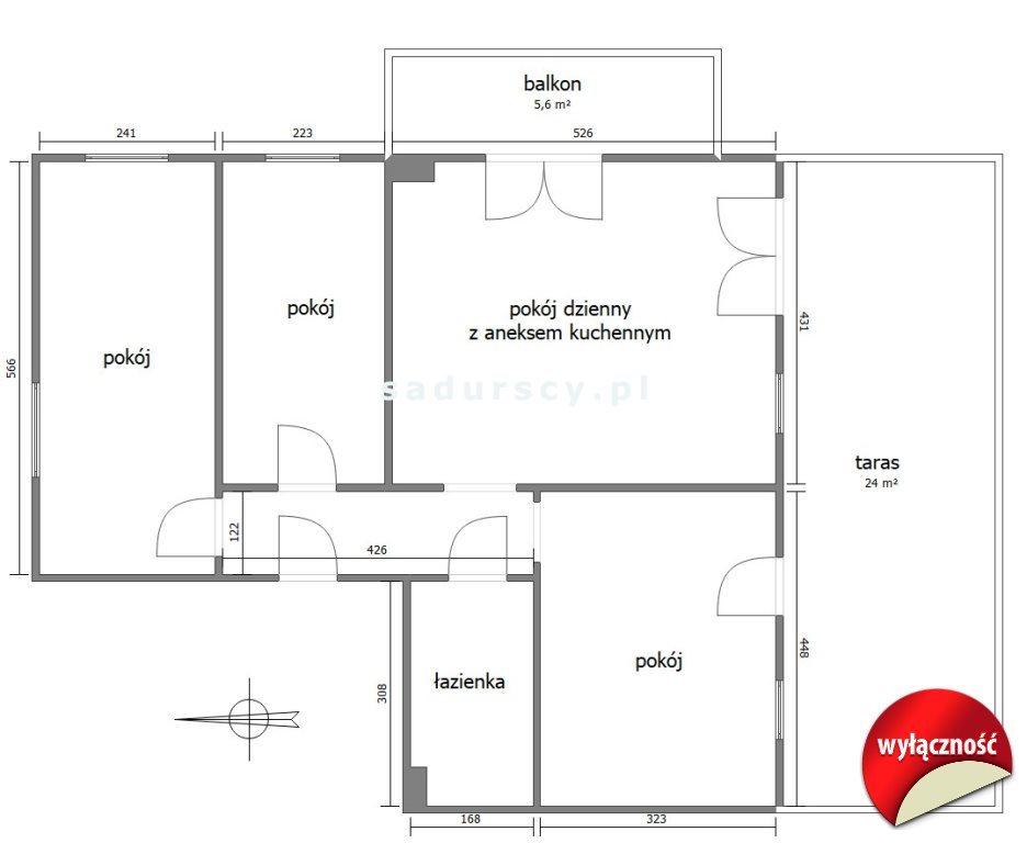 Mieszkanie czteropokojowe  na sprzedaż Kraków, Bronowice, Bronowice Małe, Na Błonie  69m2 Foto 3