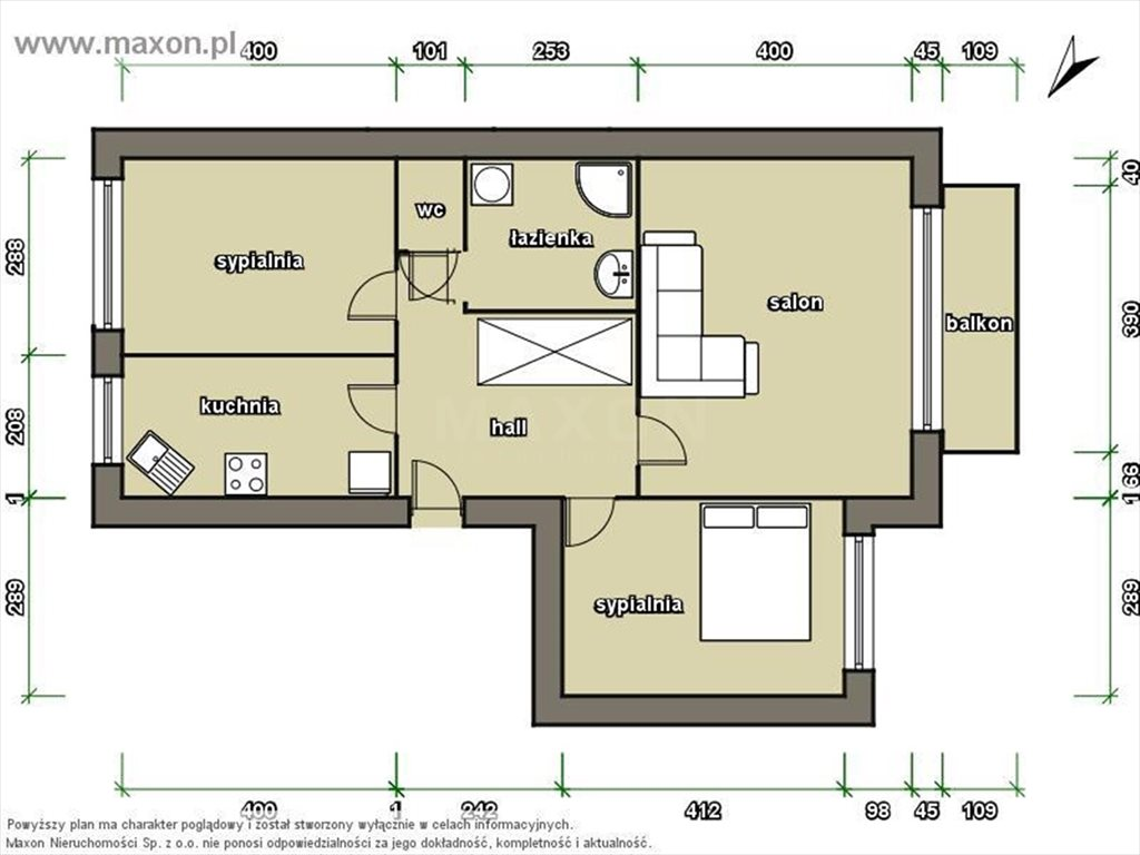 Mieszkanie trzypokojowe na sprzedaż Warszawa, Praga-Północ, ul. Kowieńska  67m2 Foto 12