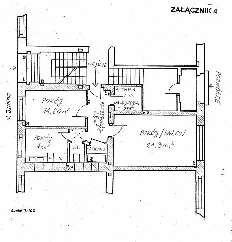 Mieszkanie trzypokojowe na sprzedaż Warszawa, Śródmieście, Dzielna  53m2 Foto 2