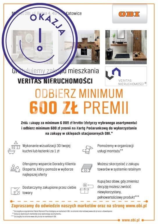 Mieszkanie trzypokojowe na sprzedaż Gliwice, Stare Gliwice, Kozielska  50m2 Foto 3