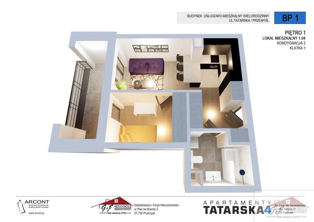 Mieszkanie dwupokojowe na sprzedaż Przemyśl, Tatarska  35m2 Foto 2