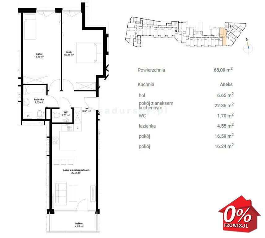Mieszkanie trzypokojowe na sprzedaż Kraków, Prądnik Czerwony, Olsza, Lublańska - okolice  68m2 Foto 4