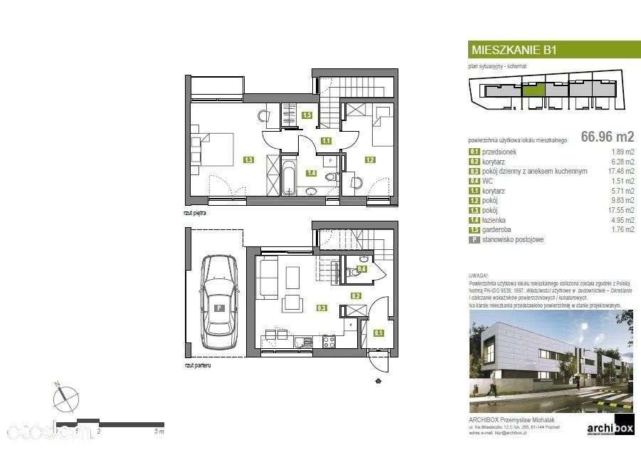 Mieszkanie trzypokojowe na sprzedaż Poznań, Jeżyce, poznań  66m2 Foto 15