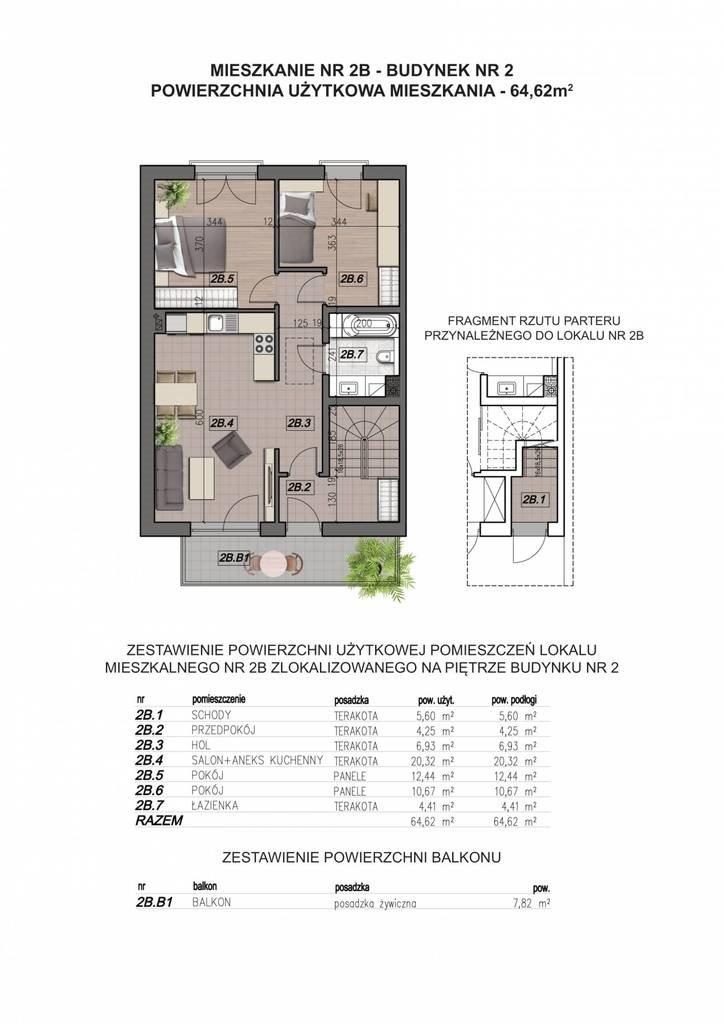 Mieszkanie trzypokojowe na sprzedaż Wieliczka  65m2 Foto 7