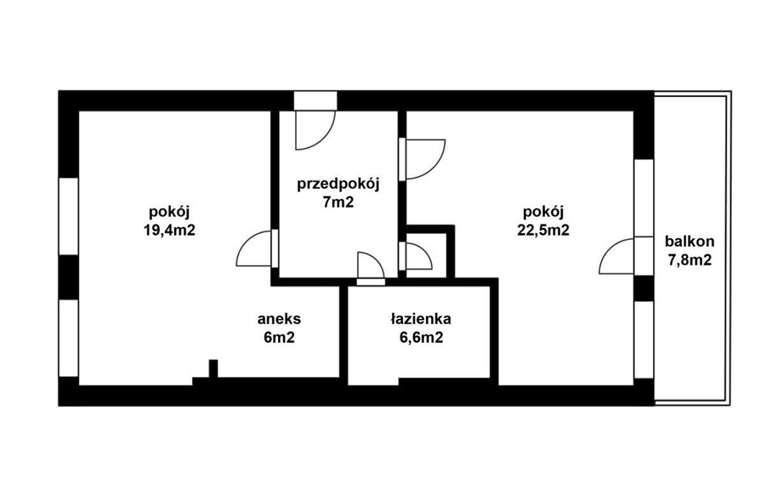 Mieszkanie czteropokojowe  na sprzedaż Kraków, Bronowice, Bronowice Małe, Głowackiego  60m2 Foto 11