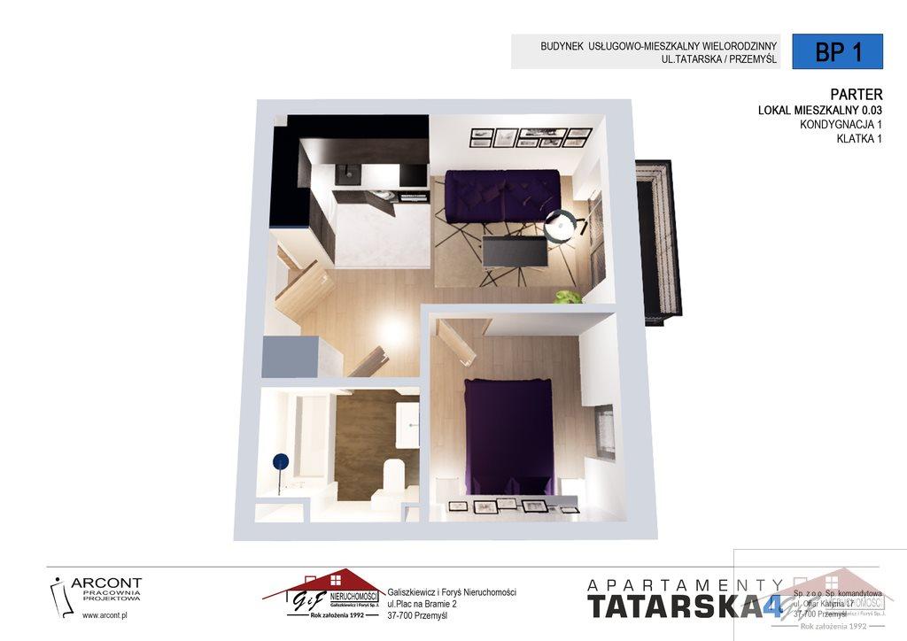 Mieszkanie dwupokojowe na sprzedaż Przemyśl, Tatarska  29m2 Foto 4