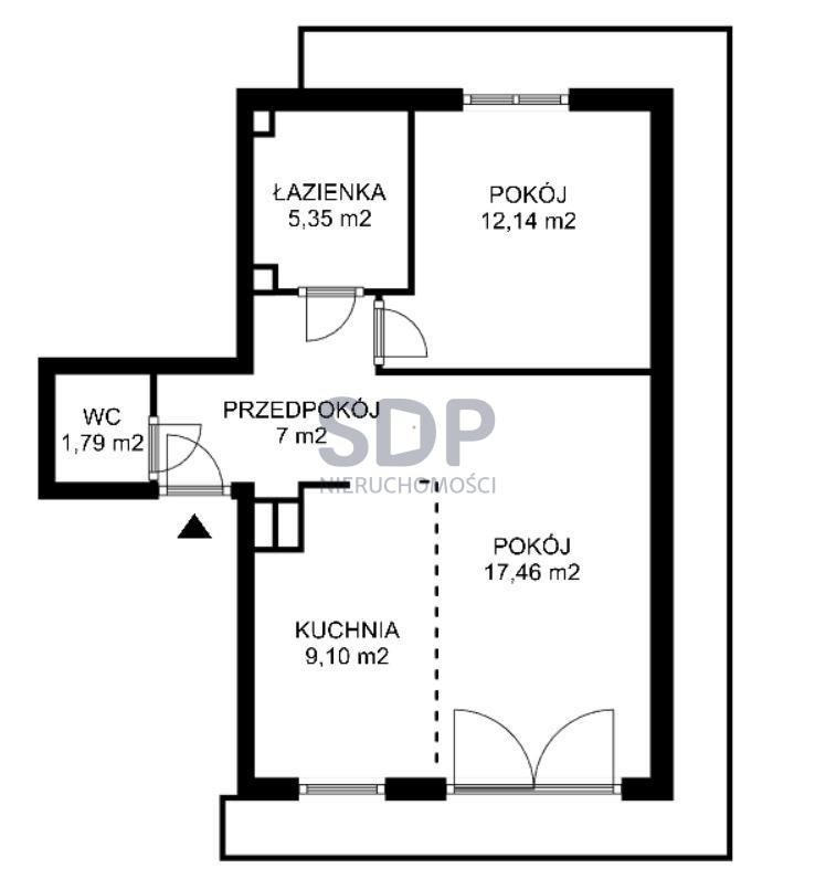 Mieszkanie dwupokojowe na sprzedaż Wrocław, Psie Pole, Wojnów, Perkusyjna  53m2 Foto 2