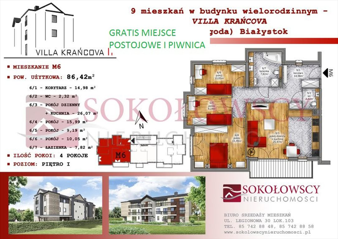 Mieszkanie czteropokojowe  na sprzedaż Białystok, Wygoda, Krańcowa  86m2 Foto 1