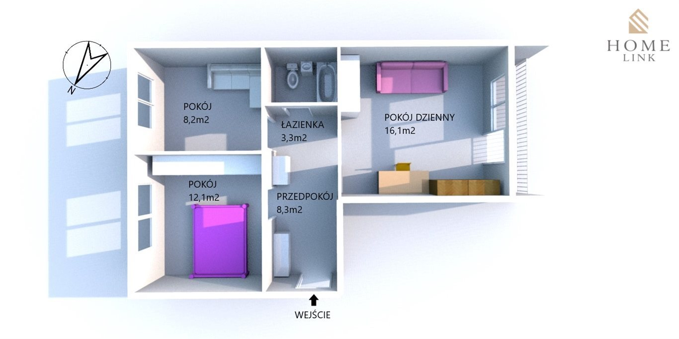 Mieszkanie dwupokojowe na sprzedaż Olsztyn, Pojezierze, Dworcowa  48m2 Foto 1