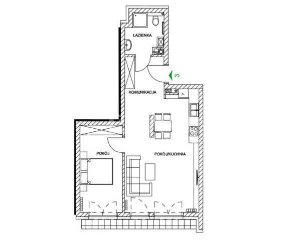 Mieszkanie dwupokojowe na sprzedaż Częstochowa, Parkitka, Grabówka, Mazowiecka  57m2 Foto 7