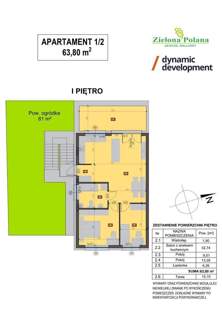 Mieszkanie trzypokojowe na sprzedaż Zamienie  64m2 Foto 3