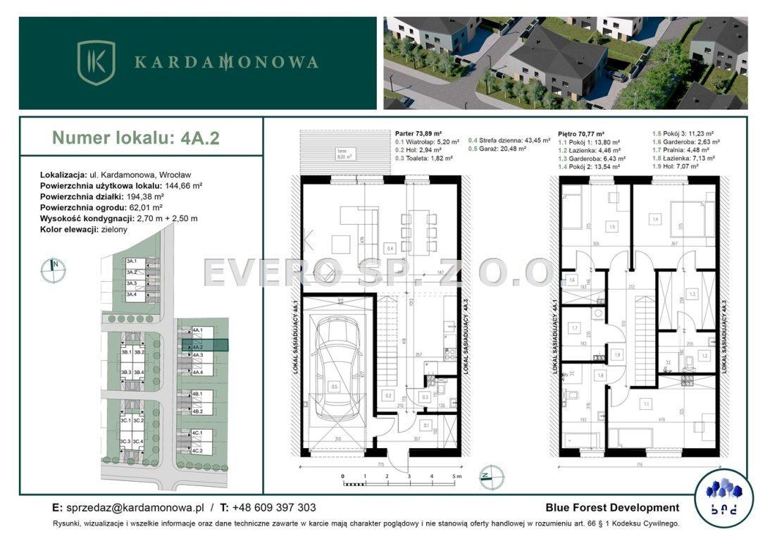 Dom na sprzedaż Wrocław, Fabryczna, Żerniki, Kardamonowa  145m2 Foto 7