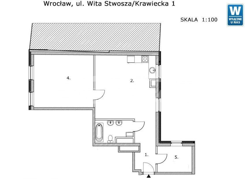 Mieszkanie trzypokojowe na sprzedaż Wrocław, Krawiecka  69m2 Foto 11