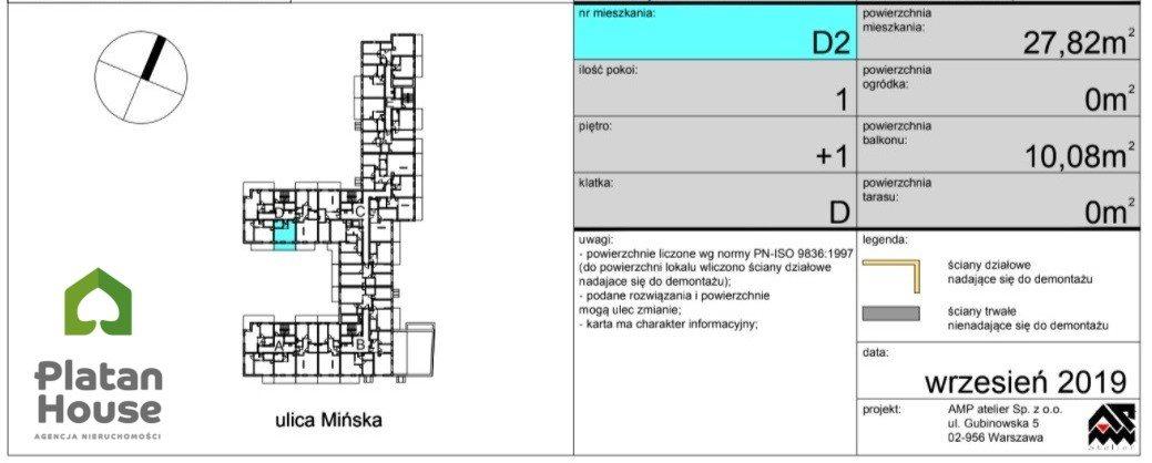 Mieszkanie dwupokojowe na sprzedaż Warszawa, Praga-Południe, Mińska  28m2 Foto 7