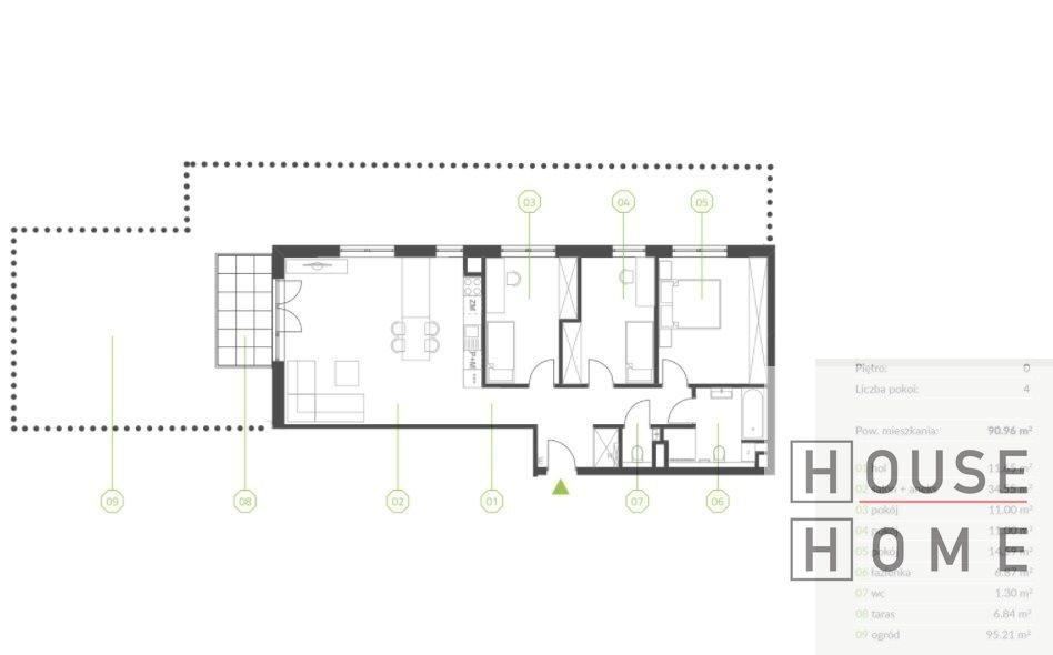 Mieszkanie czteropokojowe  na sprzedaż Katowice, Piotrowice  91m2 Foto 2