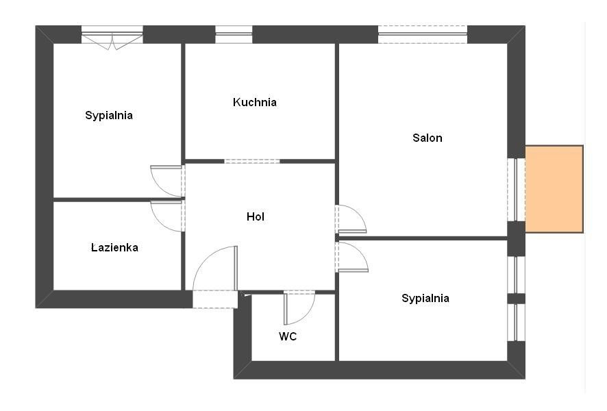 Mieszkanie trzypokojowe na sprzedaż Warszawa, Rembertów, Kramarska  64m2 Foto 1