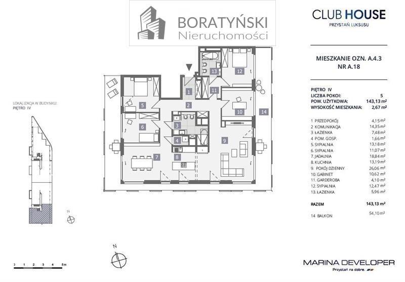 Mieszkanie czteropokojowe  na sprzedaż Szczecin, Dąbie, Dąbie, Przestrzenna  143m2 Foto 4