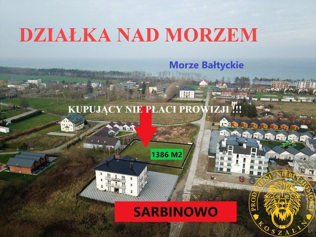 Działka budowlana na sprzedaż Sarbinowo  1386m2 Foto 2