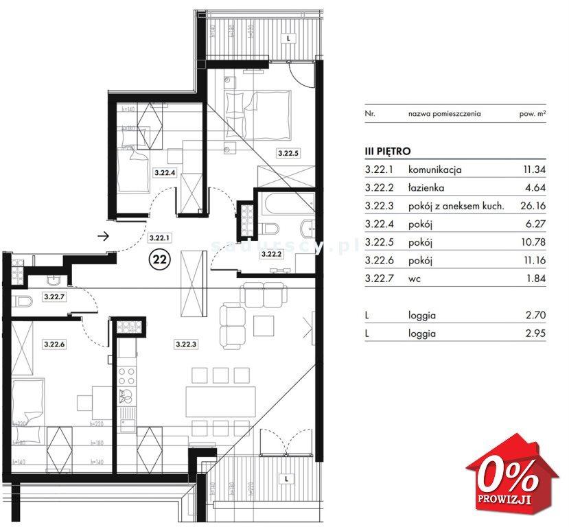 Mieszkanie czteropokojowe  na sprzedaż Wieliczka, Wieliczka, Bogucicka - okolice  72m2 Foto 3