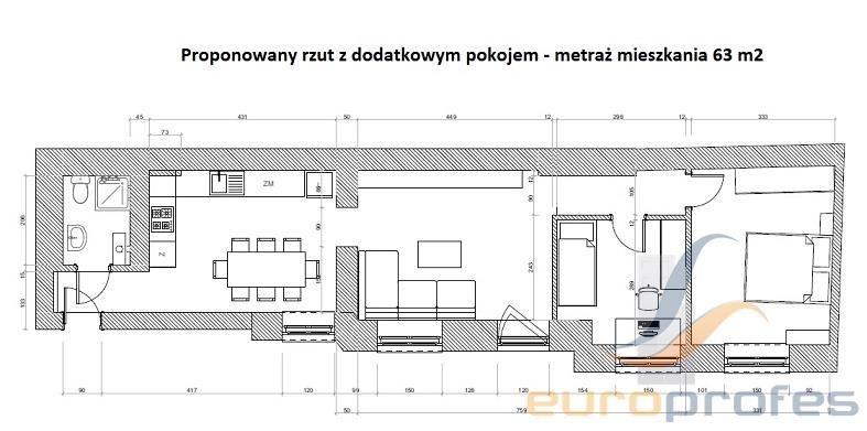 Mieszkanie trzypokojowe na sprzedaż Katowice, Śródmieście, Wojewódzka  61m2 Foto 4