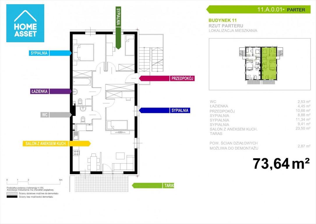Mieszkanie czteropokojowe  na sprzedaż Gdańsk, Niepołomicka  74m2 Foto 3