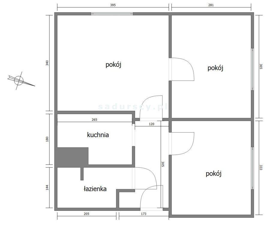 Mieszkanie trzypokojowe na sprzedaż Kraków, Grzegórzki, Dąbie, Widok  46m2 Foto 4