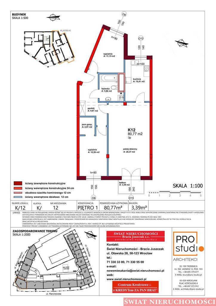Mieszkanie trzypokojowe na sprzedaż Trzebnica  81m2 Foto 2