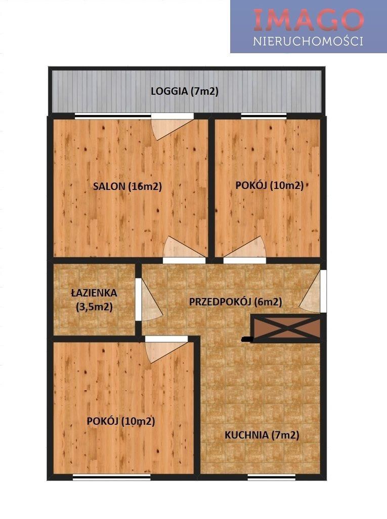 Mieszkanie trzypokojowe na sprzedaż Rzeszów, Podwisłocze  54m2 Foto 1