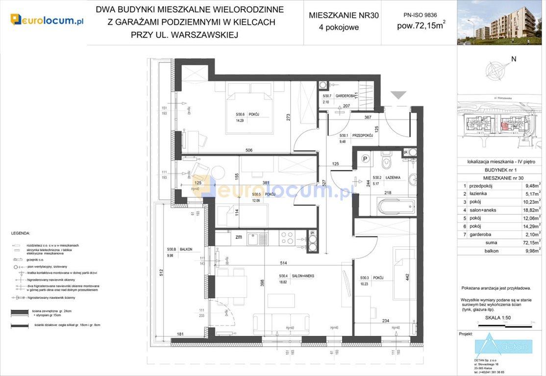 Mieszkanie czteropokojowe  na sprzedaż Kielce, Bocianek, Warszawska  72m2 Foto 5