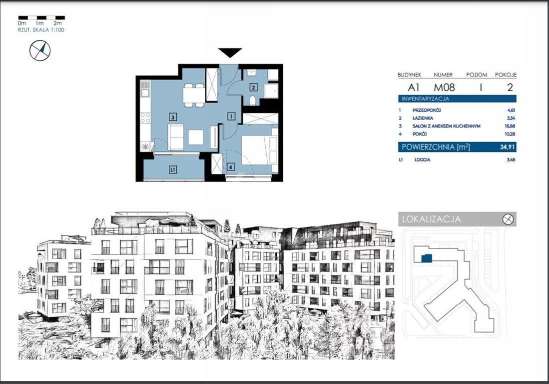 Mieszkanie dwupokojowe na sprzedaż Rzeszów, Henryka Wieniawskiego  35m2 Foto 5