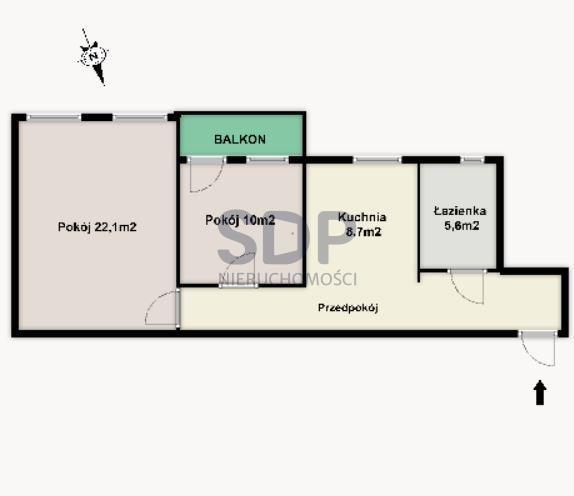 Mieszkanie dwupokojowe na sprzedaż Wrocław, Krzyki, Huby, Hubska  55m2 Foto 1