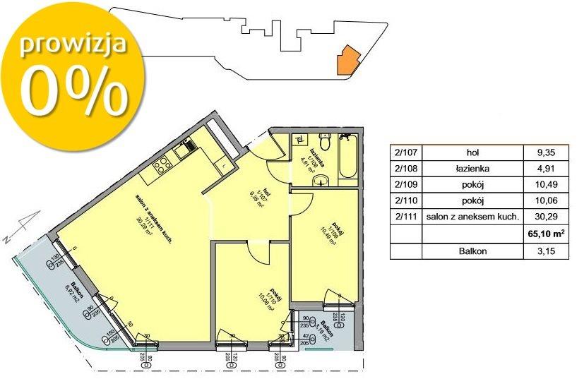 Mieszkanie dwupokojowe na sprzedaż Kraków, Prądnik Czerwony, Prądnik Czerwony, Promienistych  65m2 Foto 4