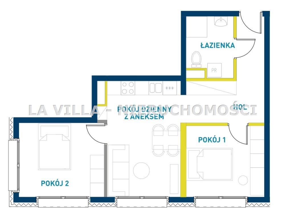 Mieszkanie trzypokojowe na sprzedaż Leszno  52m2 Foto 5