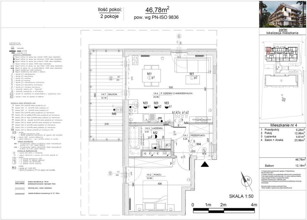 Mieszkanie dwupokojowe na sprzedaż Kielce, Baranówek  47m2 Foto 12