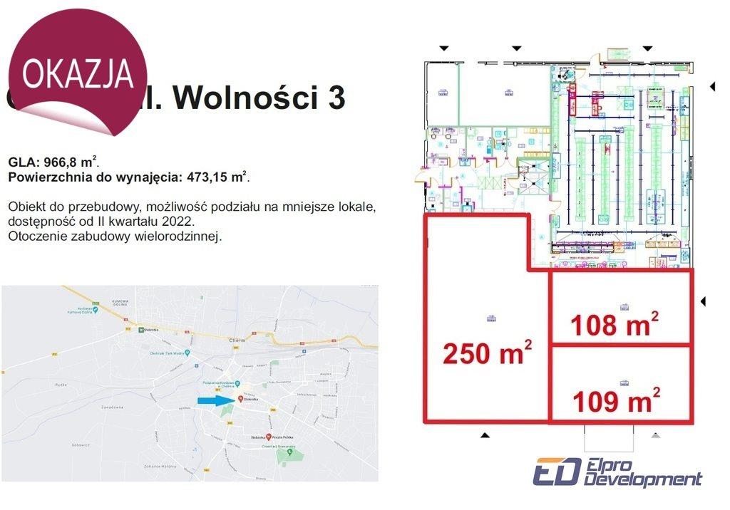 Lokal użytkowy na wynajem Chełm  400m2 Foto 3