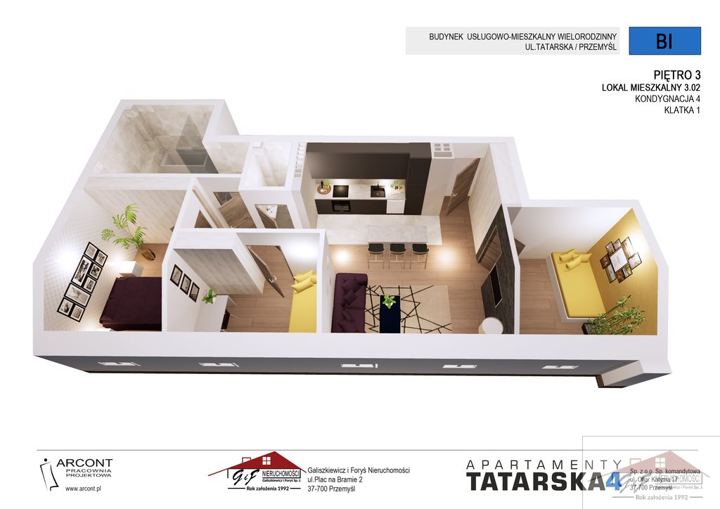 Mieszkanie czteropokojowe  na sprzedaż Przemyśl, Tatarska  63m2 Foto 6