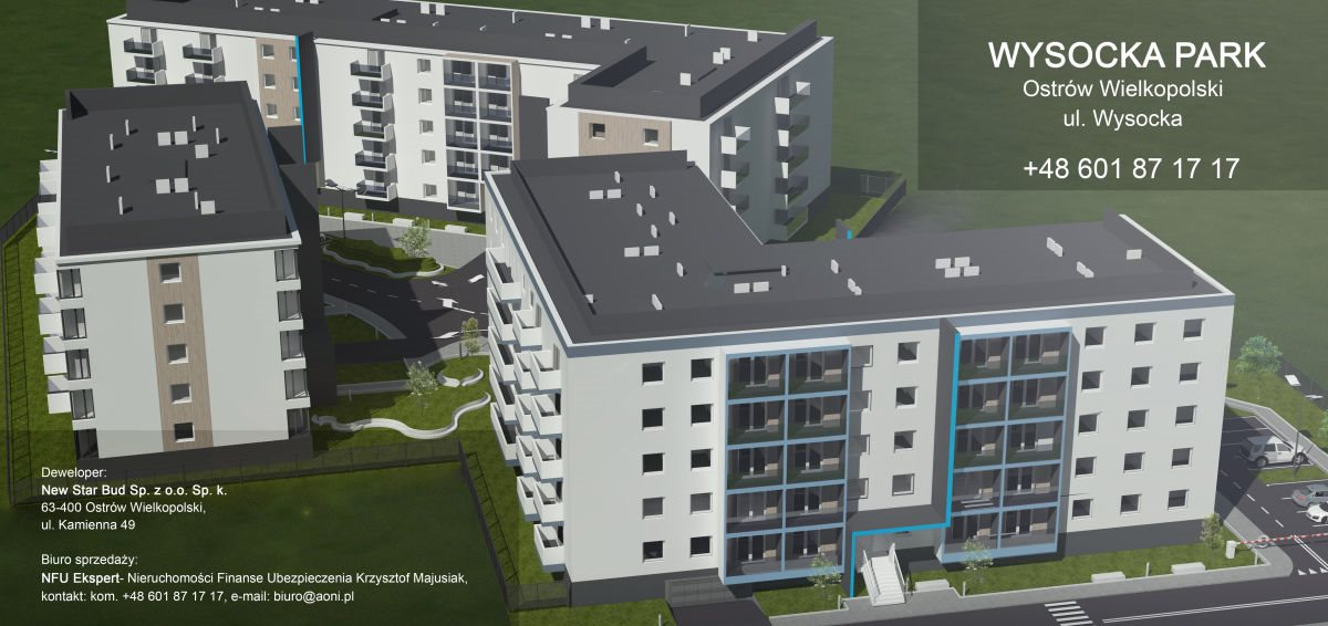 Mieszkanie dwupokojowe na sprzedaż Ostrów Wielkopolski, Wysocka  53m2 Foto 3