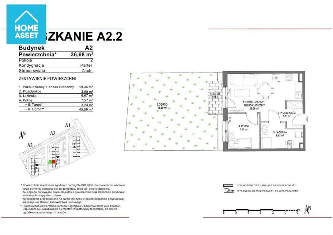 Mieszkanie dwupokojowe na sprzedaż Rokitki, Tczewska  37m2 Foto 4