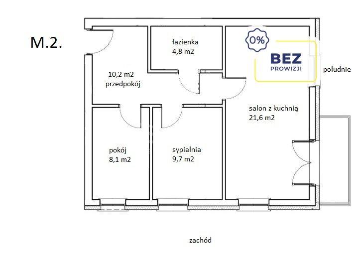 Mieszkanie trzypokojowe na sprzedaż Legnica, Bielańska  54m2 Foto 2