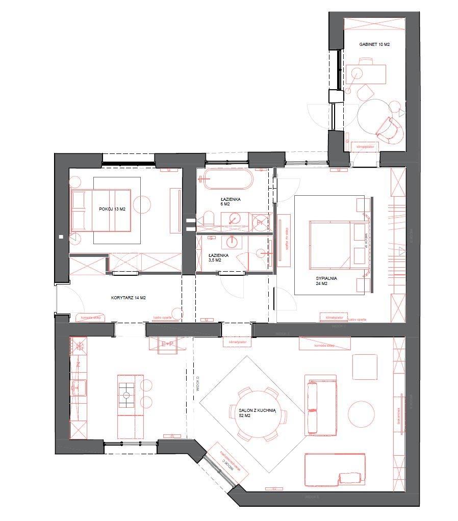 Mieszkanie czteropokojowe  na sprzedaż Kraków, Stare Miasto, Mikołaja Zyblikiewicza  120m2 Foto 2
