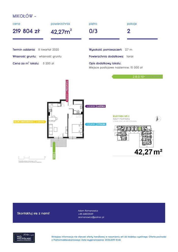 Mieszkanie dwupokojowe na sprzedaż Mikołów, storczyków  34m2 Foto 6