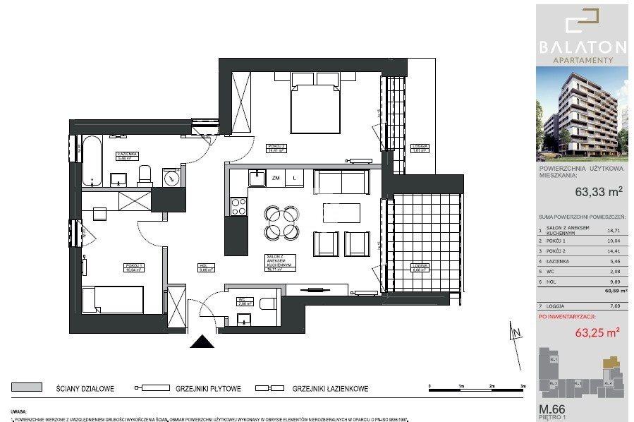 Mieszkanie trzypokojowe na sprzedaż Bydgoszcz, Bartodzieje Wielkie, Ceramiczna  63m2 Foto 3