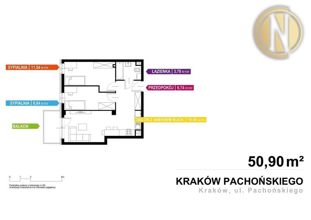 Mieszkanie trzypokojowe na sprzedaż Kraków, Prądnik Biały, Prądnik Biały, Henryka Pachońskiego  50m2 Foto 9