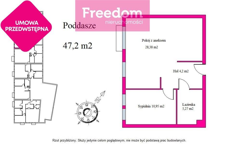 Mieszkanie dwupokojowe na sprzedaż Olsztyn, Dąbrowszczaków  47m2 Foto 3