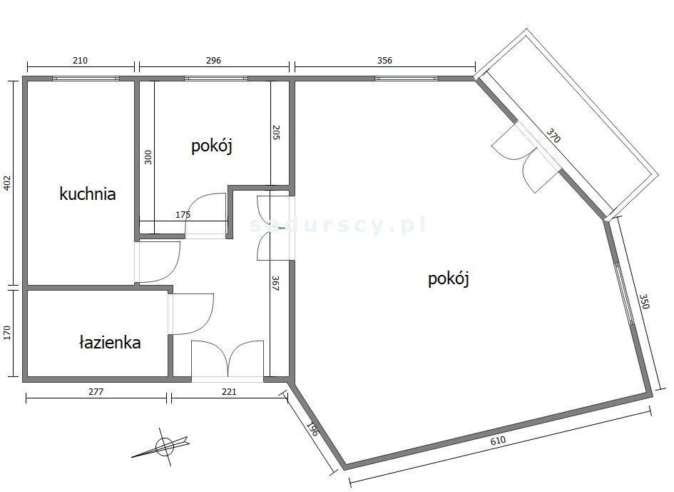Mieszkanie dwupokojowe na sprzedaż Kraków, Stare Miasto, Stare Miasto, Podwale  68m2 Foto 3