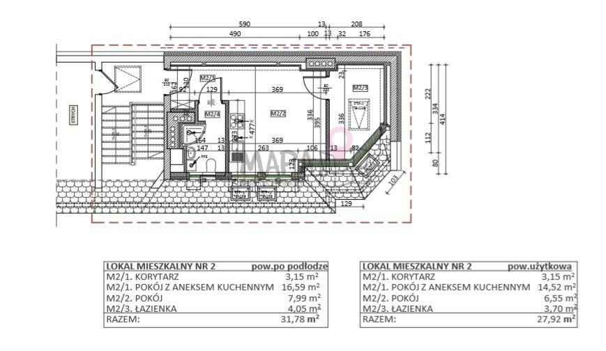 Mieszkanie dwupokojowe na sprzedaż Szczecin, Drzetowo, Emilii Plater  28m2 Foto 1